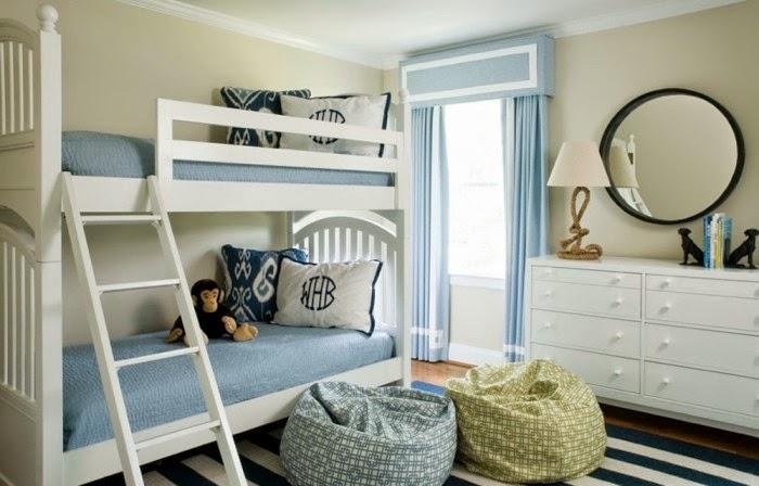 Cuartos juveniles en celeste y blanco ideas para decorar dormitorios - Habitacion juvenil azul ...