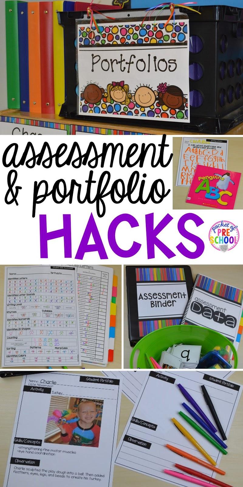 student portfolio and assessment organization hacks