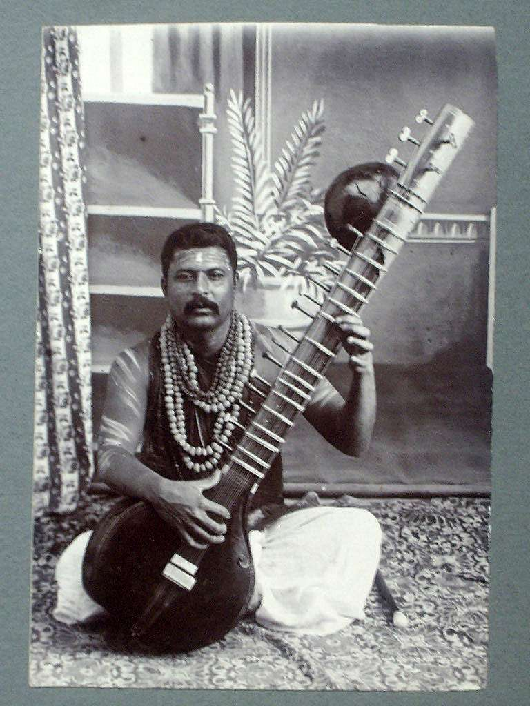 An Indian Artist Playing a Sitar - 1890's
