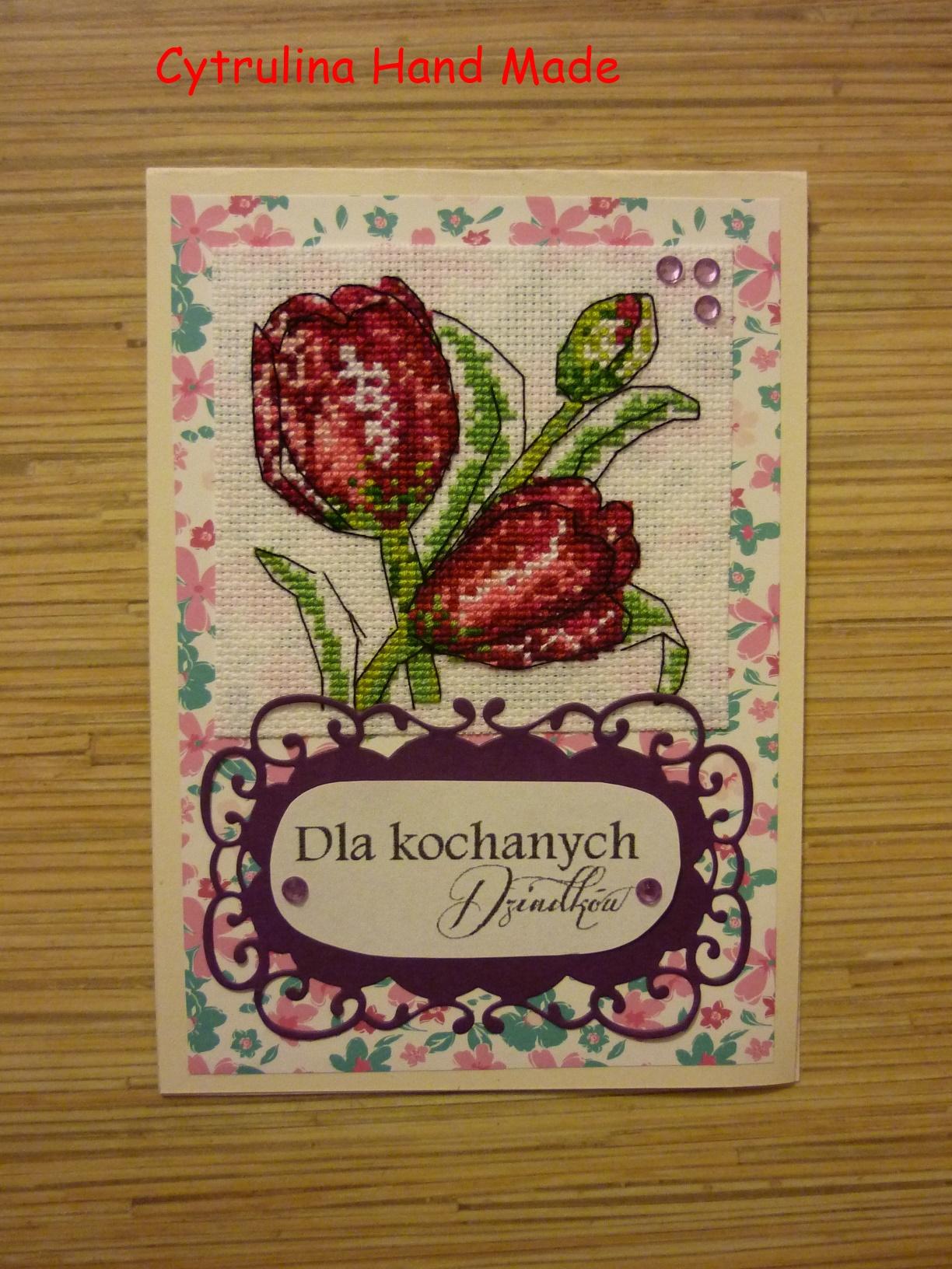P1130646 - Kwiatowe karteczki - tulipany iróże