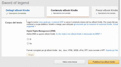 Contenuto eBook Kindle