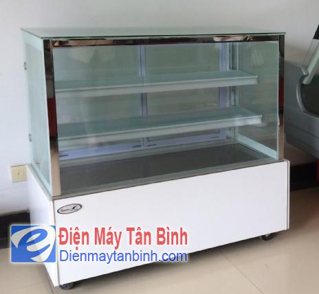 Tủ mát kính vuông trưng bày bánh kem, bánh sinh nhật