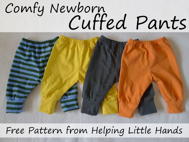 27016811e872 Pieces by Polly  Comfy Newborn Cuffed Pants - Free Printable Pattern