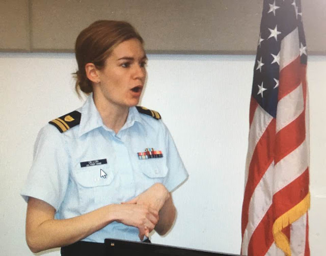 USCG LTJG Kathleen Dillon of Joint Base McGuire/Dix/Lakehurst
