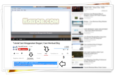 Cara 2: memasukan video Youtube ke dalam postingan di Blogger