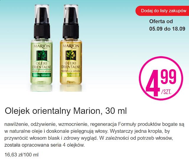 Olejek orientalny Marion - Biedronka, promocja