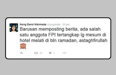 Sebarkan Fitnah, Aktivis Liberal Nong Darol Dilaporkan FPI ke Polda