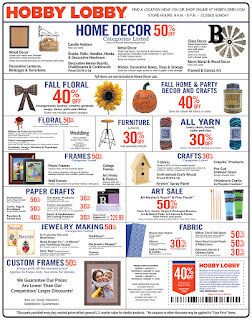 Hobby Lobby Weekly Ad August 12 - 18, 2018