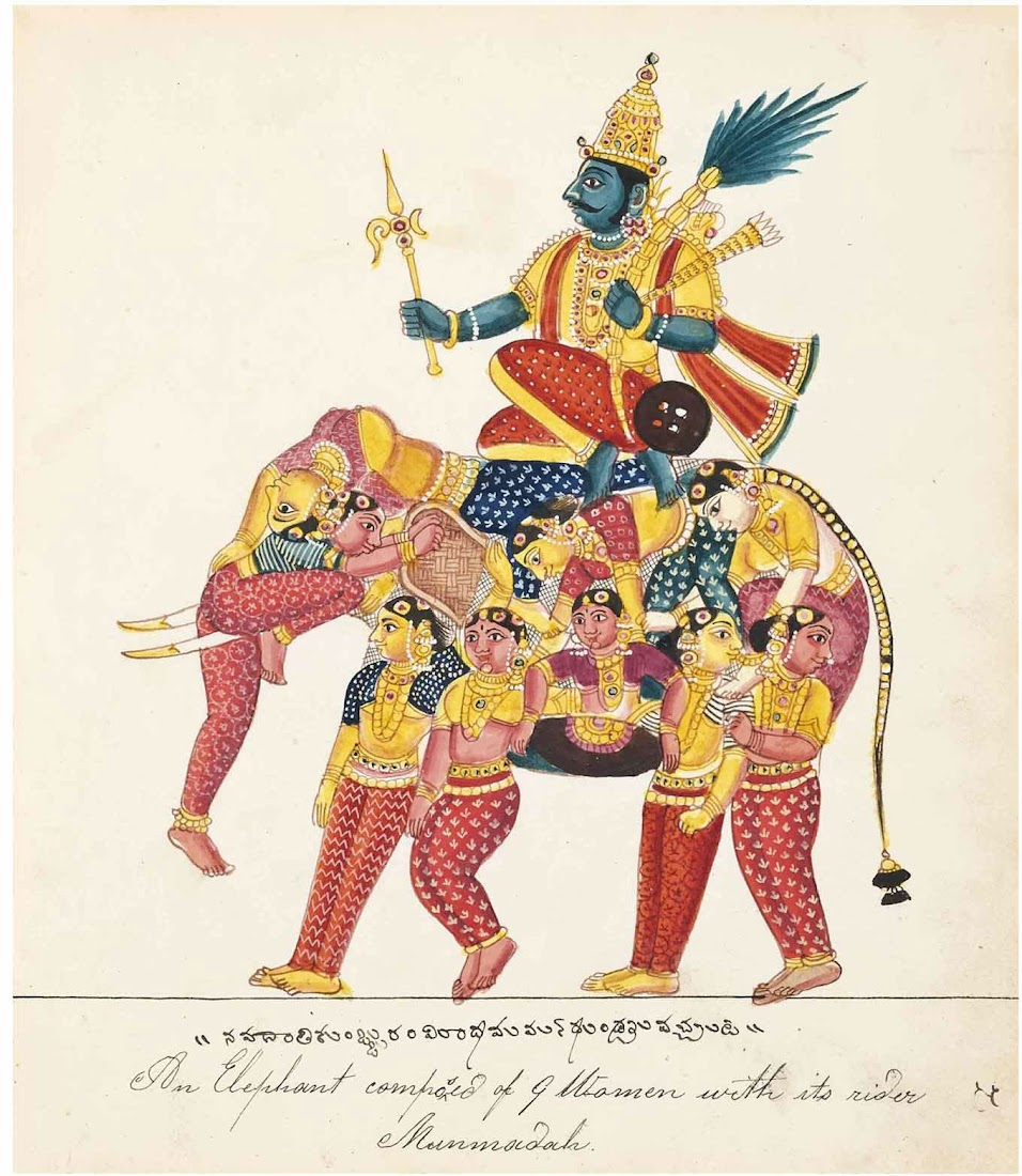 An Elephant Composed of Women with its Rider, Tanjore, South India, Mid 19th Century