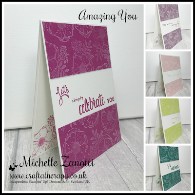 stampin' up! UK sale-a-bration amazing you 2017-2019 in color in colour craft white ink let's celebrate