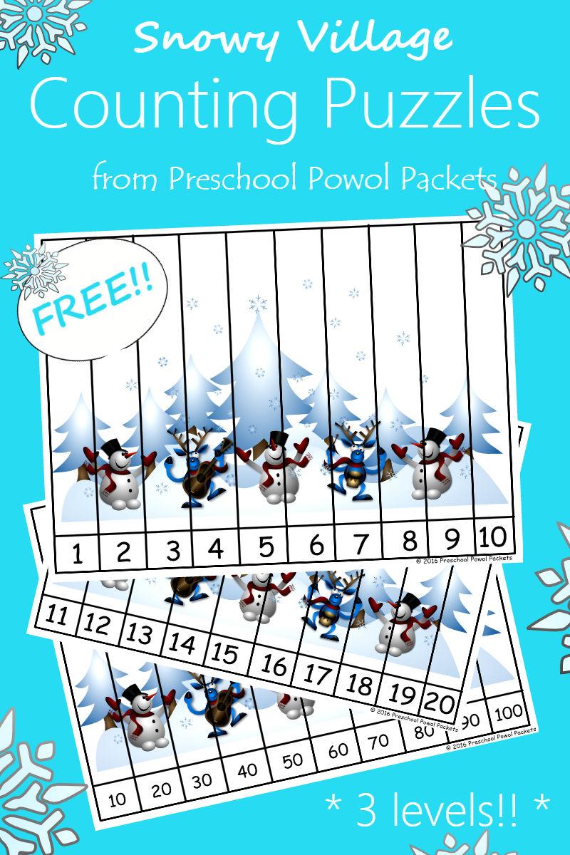 Snow, Ice, Winter, & Snowman FREE Preschool Printables | Preschool ...