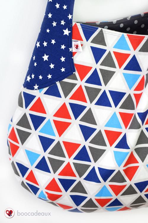 Beuteltasche (Farbenmix - Taschenspieler 3- Sew Along) aus Grid und Schnuppe von Frau Tulpe