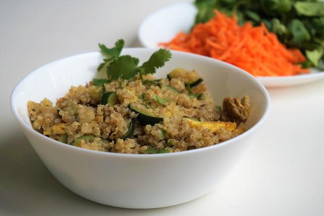 quinoa+calabacín+tortilla