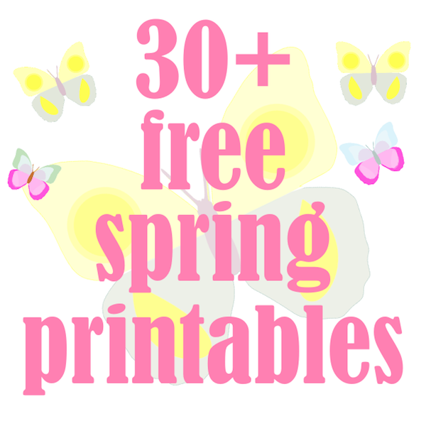 photograph relating to Spring Printable known as 30 + free of charge spring printables - ausdruckbare Frühlingsvorlage