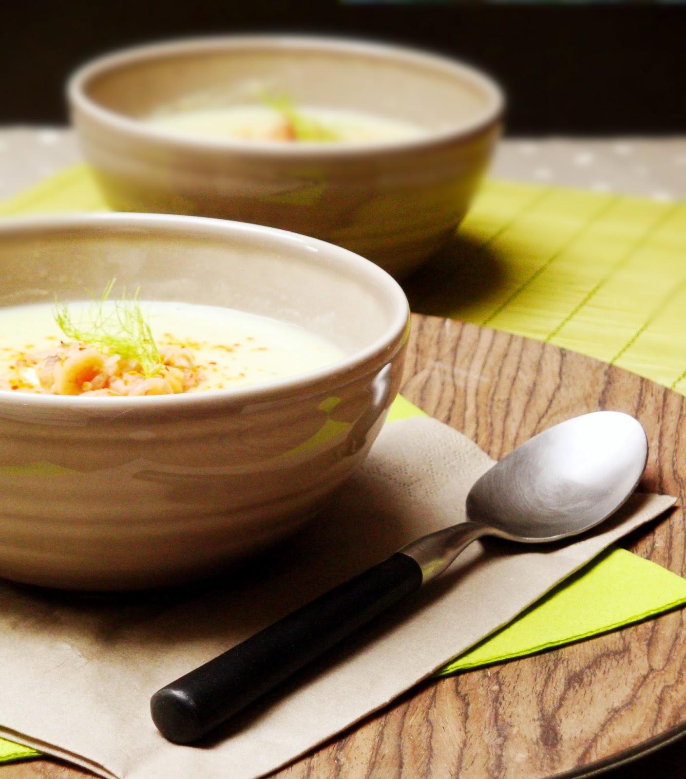 Les Cahiers Gourmands Creme De Fenouil Et Crevettes Grises