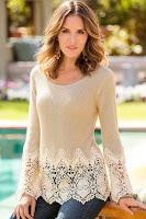 Bluza eleganta accesorizata cu dantela florala