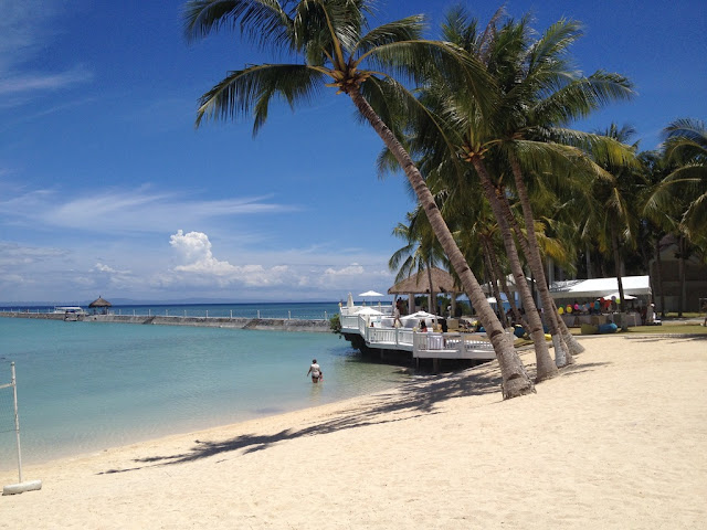 The beach at Pacific Cebu Resort Team Building Venue in Lapulapu City Mactan Island Cebu Philippines