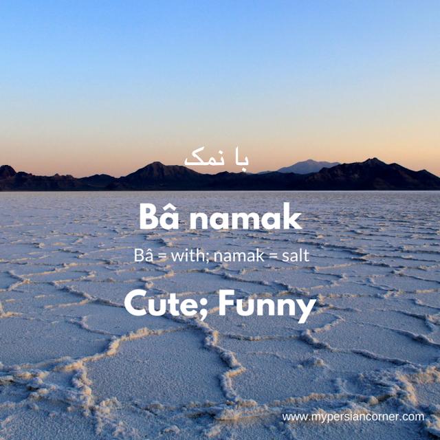 Banamak means cute or funny in Persian Farsi language