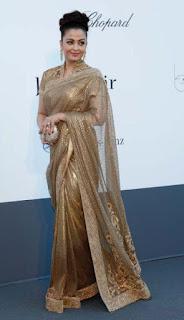 Aishwarya Rai In Golden Saree