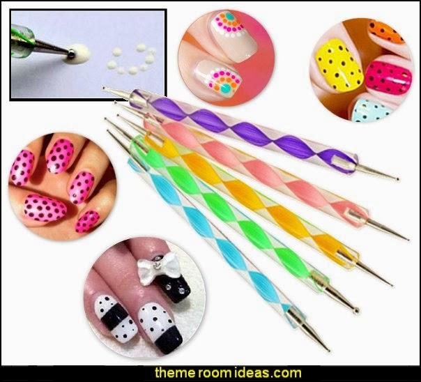 dotting tools-nail desiign tools-polka dot nails-nasil decorating ideas