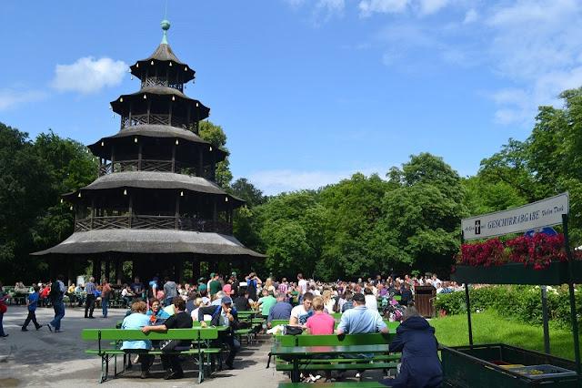 Cervejaria Chinesischer Turm em Munique