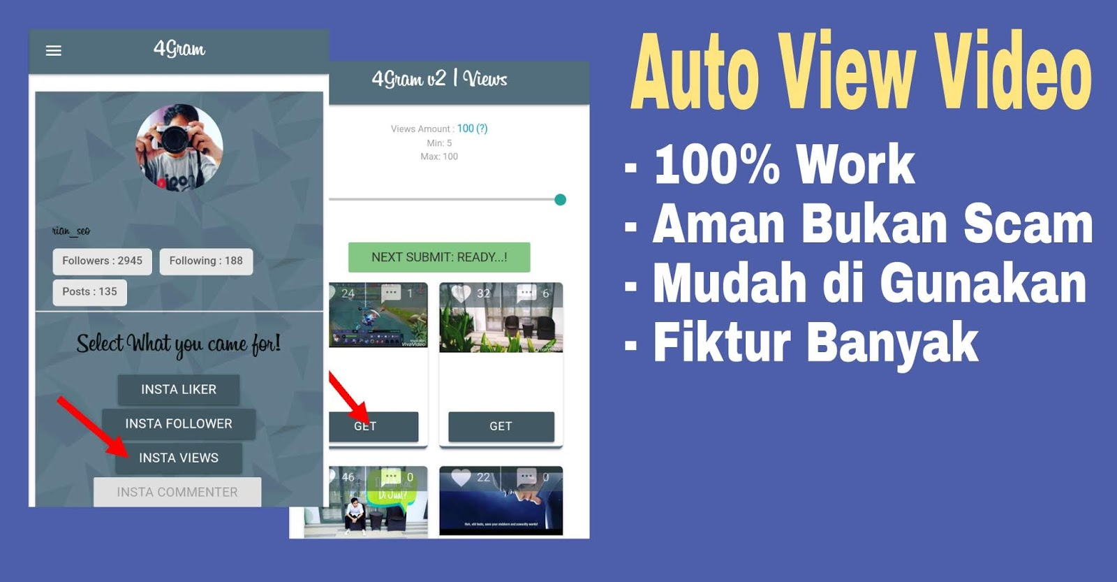 Cara Membuat Auto View Video Instagram Terbaru 2018, 100% Work