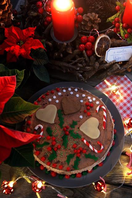 Tort świąteczny, przepisy na święta, marcepan, tort czekoladowy, ciasto na święta, przepisy na Boże Narodzenie