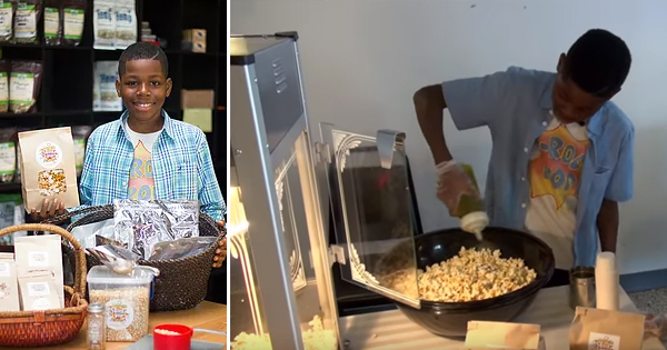 Jayden Hammond, founder of J-Rock's Pop Gourmet Vegan Popcorn