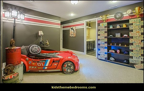 Car Themed Bedrooms for Teenagers boys cars  Auto Mechanic Bedroom ideas