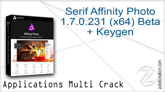 Serif Affinity Photo 1.7.0.231 (x64) Beta + Keygen