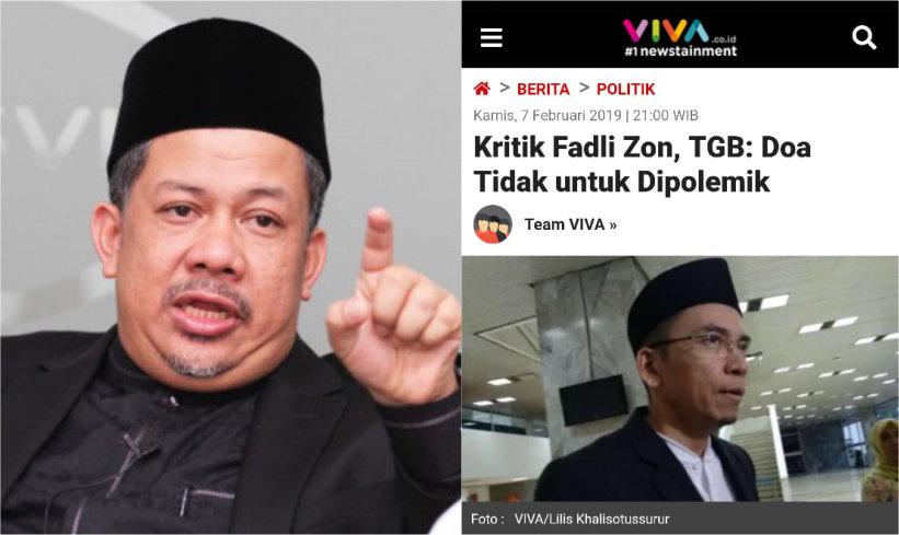 Fahri Hamzah Balas Kritikan TGB ke Fadli Zon soal Puisi  Doa yang ... 9424ee5dd3