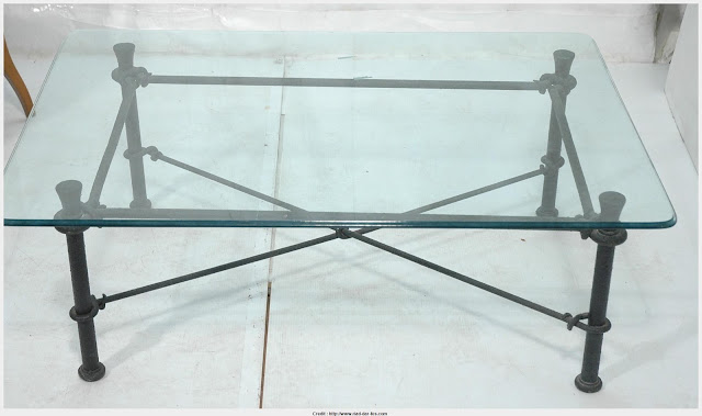 Top Photo of Iron And Glass Coffee Table Photograph