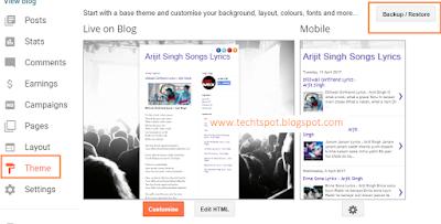 Restore Blogger Template 1