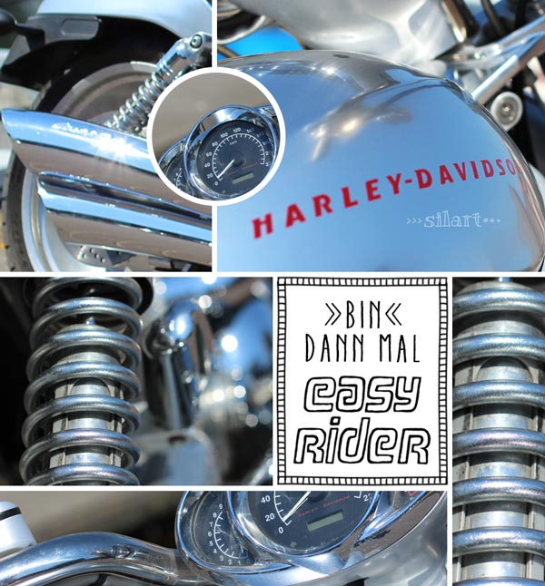 Detail Aufnahmen einer Harley Davidson