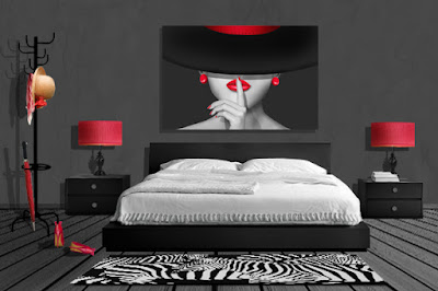 mausopardia wandbilder schwarz wei mit colorkey rot. Black Bedroom Furniture Sets. Home Design Ideas
