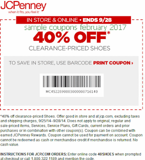 JcPenney coupons february 2017