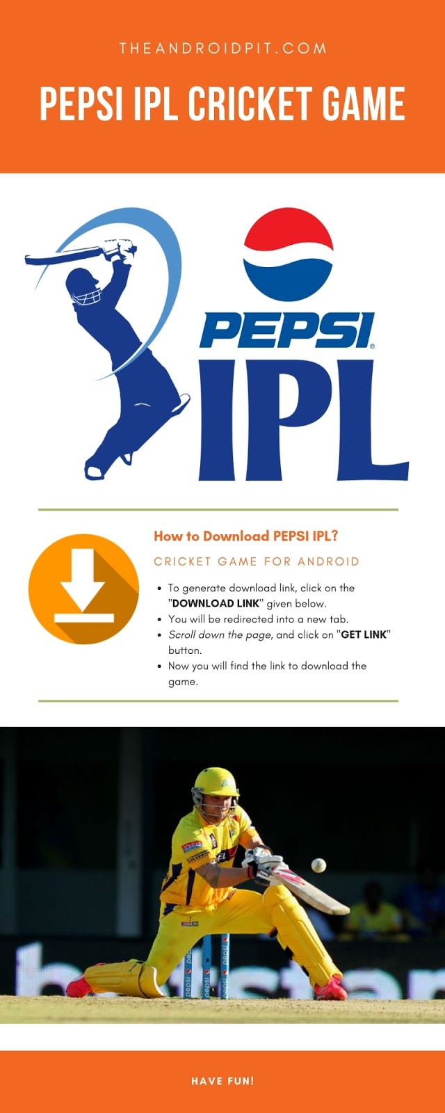 Pepsi IPL Cricket Game for Android, Pepsi IPL game, How to download pepsi ipl game