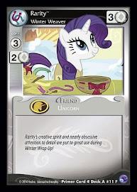 My Little Pony Rarity, Winter Weaver Primer Deck CCG Card