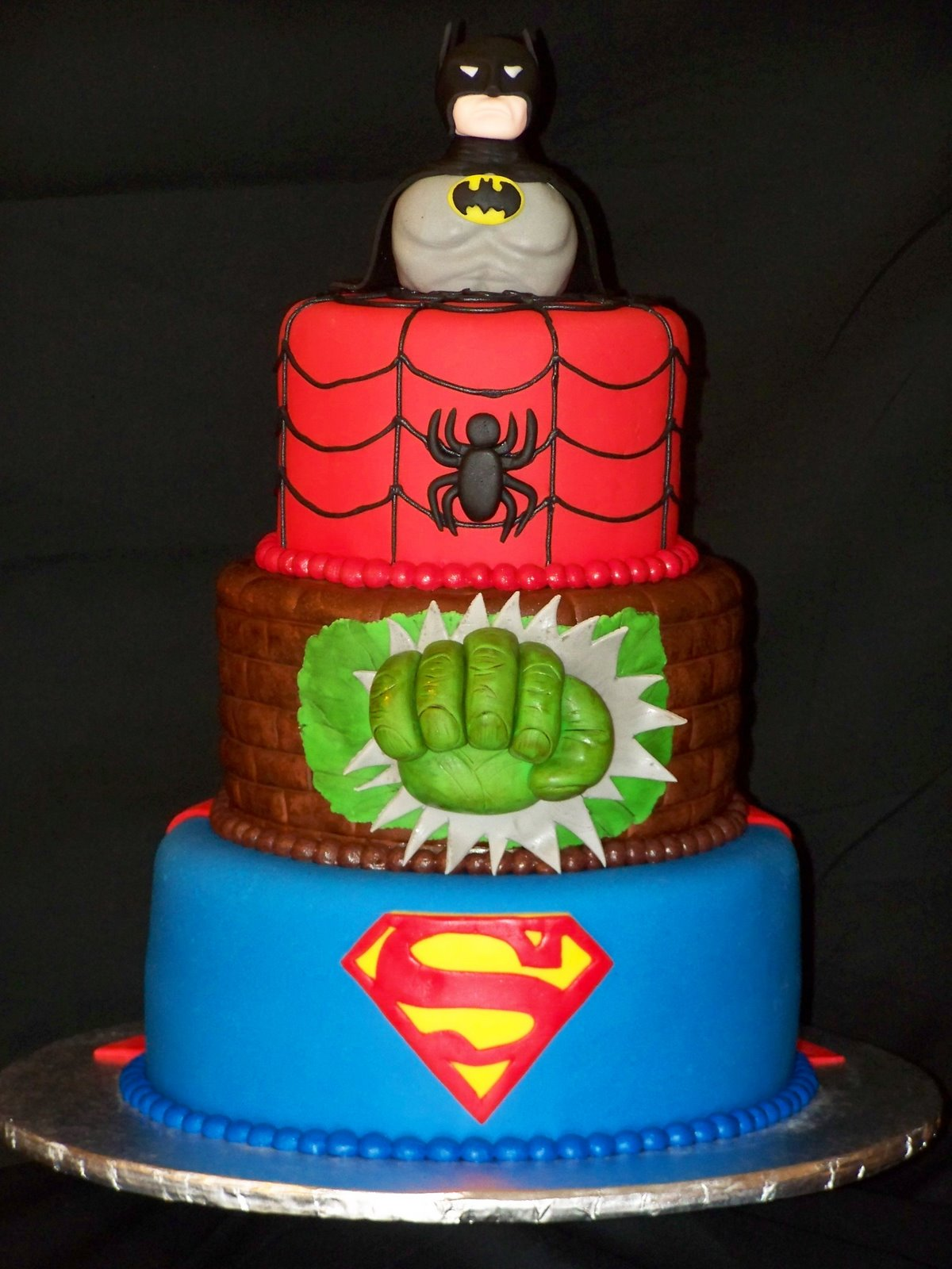 Shape Superhero Boy Birthday Cakes