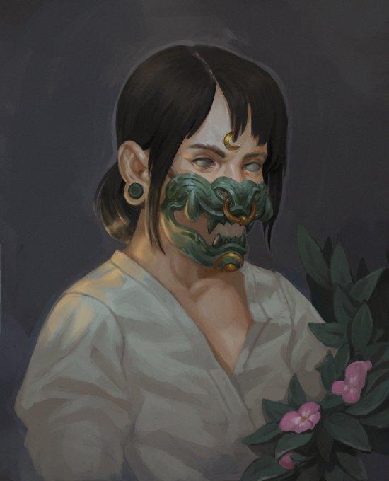 Natasha Nanook artstation ilustrações fantasia arte sombria