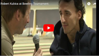 Robert Kubica at European Bowling Tour