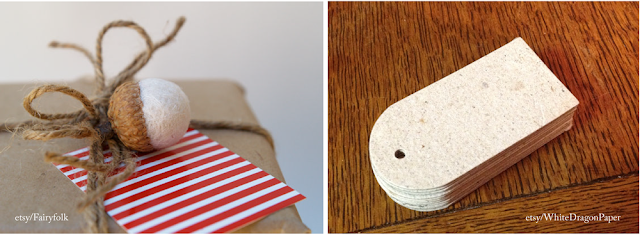 Eco-friendly gift tags and ornament