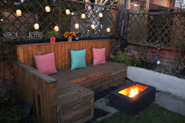 cheap and easy fire pit DIY