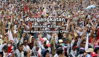 Pengangkatan Honorer K2 Dan Non Kategori Menjadi CPNS