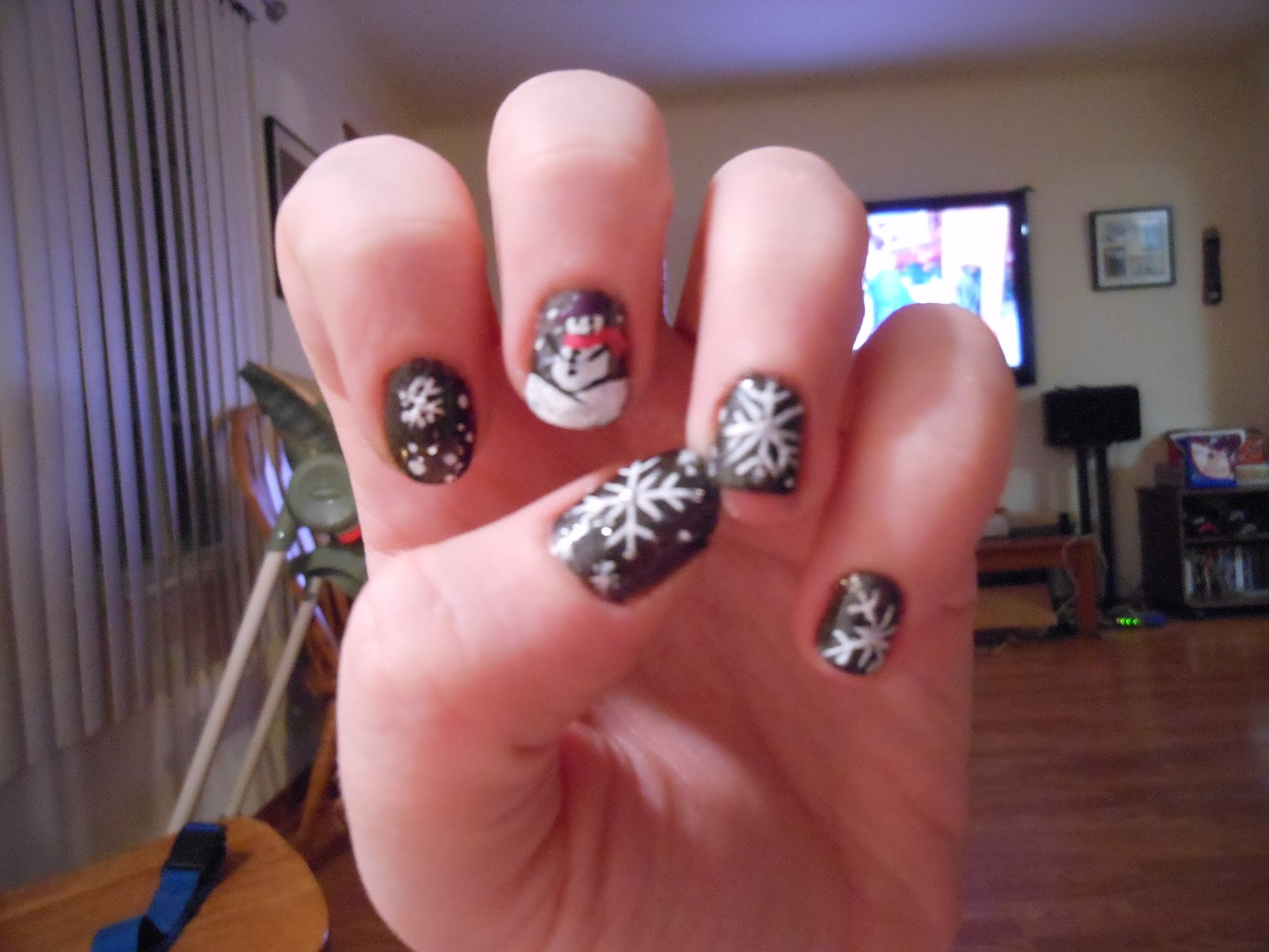 KalamityJane: Cute Winter Themed Nails