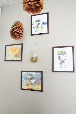 DIY snoopy decor, DIY Snoopy Scouts decor