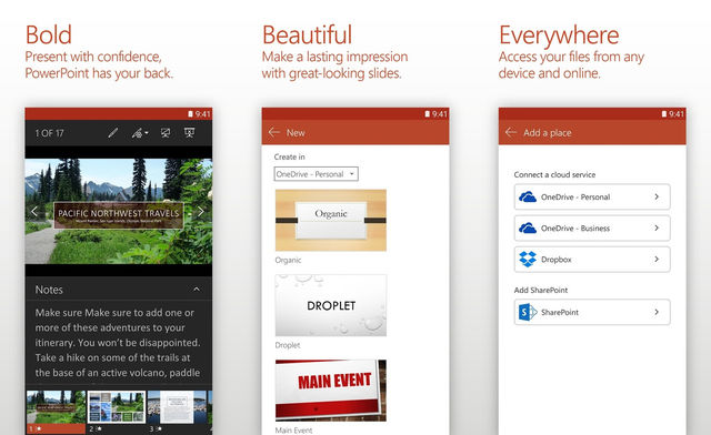 Microsoft PowerPoint For Android Tablet
