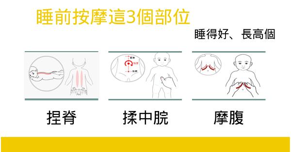 睡前按摩這3個部位,孩子睡得香身體好不得病,還能長高個