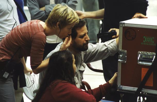 Fabián Bielinsky durante el rodaje de 'Nueve reinas'