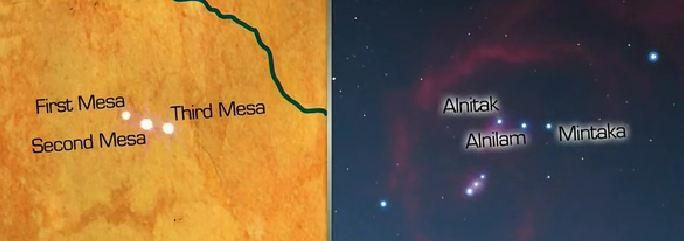 Las tres Hopi Mesas están perfectamente alineadas con la constelación de Orión.